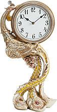 Widdop - Ornate Bronze Finish Peacock Mantel Clock