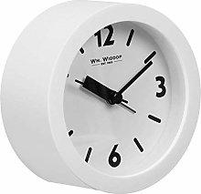 Widdop Round White Beep Alarm Clock with Quartz