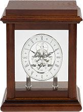 Widdop - Skeleton Movement Wooden Mantel Clock