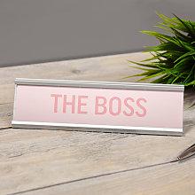 Widdop - The Boss Pink Desk Plaque