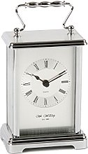 Widdop Wm Silver Coloured Carriage Clock with
