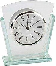 Widdops 2 Layered Clear Glass Mantel Clock Art