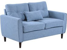 Wide 2-Seater Sofa Tufted Loveseat w/ Seat Back