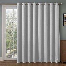 Wide Blackout Patio door Curtain Panel&Sliding