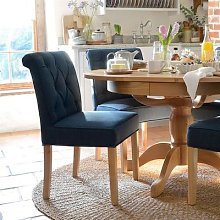 Wide Width Upholstered Dining Chair - Navy