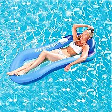 Inflatable Floating Water Bed Float Pool Lounge Hammock Swimming Chair Summer UK