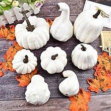 widesmile Halloween White Artificial Pumpkins