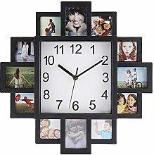Wifehelper 2 in 1 Plastic Wall Clock + Photo Frame