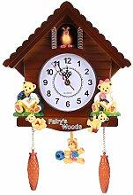 Wifehelper Cuckoo Clock Tree House Wall Clock Art