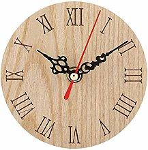 Wifehelper Decorative Wall Clock Classic Wooden