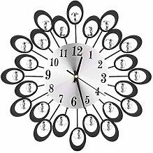 Wifehelper European Diamond Wall Clock Round Clock