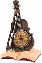 Wifehelper Vintage Resin Violin Model Clock