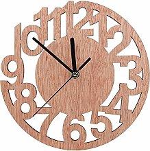 Wifehelper Wall Clock, Wooden Composite Board