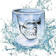 WIKEA Skull Shot Glass, Crystal Wine Glasses,