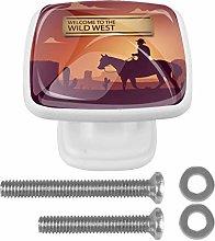 Wild West Cowboy 3D Printed Drawer Knobs Pull
