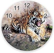 Wildlife Animal PVC Wall Clock, Silent Non-Ticking