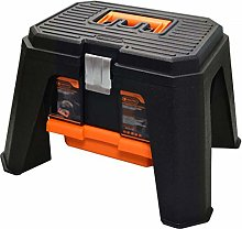 Wilk Toolbox, Step Stool Tool Box, with Portable