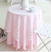 William 337 Round Tablecloth - Lace Round Dining