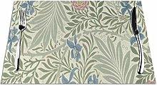 William Morris Larkspur Floral Pattern Table