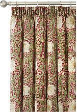 William Morris Pimpernel Red Lined Curtain Pairs