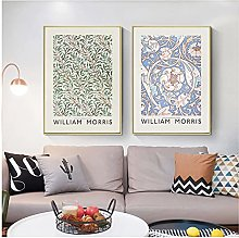 William Morris Poster Vintage Flowers Canvas