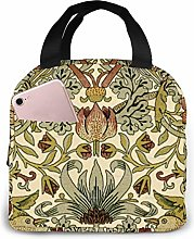 William Morris Strawberry Lunch Bag,Reusable
