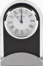 WILLIAM WIDDOP Arched Glass & Wood Mantel Clock