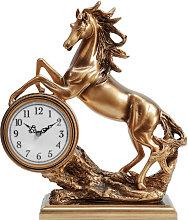 WILLIAM WIDDOP Bronze Effect Rearing Horse Mantel