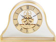 WILLIAM WIDDOP Gold Napoleon Skeleton Mantel Clock