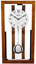 William Widdop Oak Framed Glass Fronted Pendulum