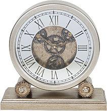 WILLIAM WIDDOP Silver Wooden Mantel Clock with