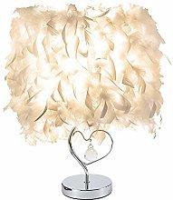 willkey Feather Table Lamp Love Heart Light Shade