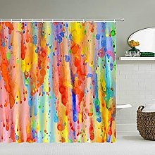 WILLMEIH Bathroom Shower Curtain Abstract colorful