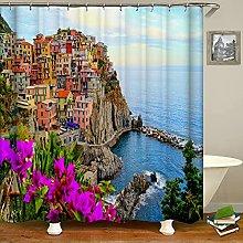 WILLMEIH shower curtains bathroom City