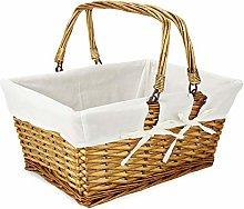 Willow Storage Basket | Cream Cotton Lining |