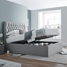 Wilson Grey Fabric Ottoman Storage Bed Frame -