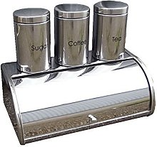 Wilsons Direct Stainless Steel 4pc Bread Bin Set