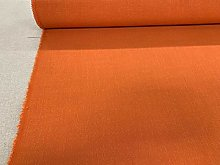 Wiltshire Flax Linen Blend Orange 140cm Wide