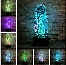 Wind Chimes Table Lamp Switch Dream Catcher 3D