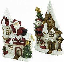 Wind light Christmas house made of magnesia Noor