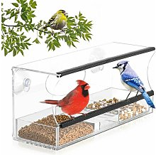 Window Bird Feeder with Strong Suction Cups and