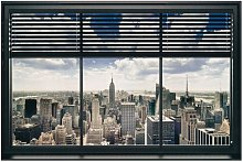 Window Blinds Photographic Print Plaque East Urban
