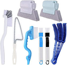 Window Cleaning Brushes Set, Window Track Cleaner