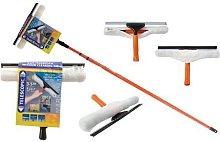 Window Cleaning Kit Telescopic Pole Professional
