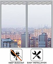 Window Fly Screen Roller Blind Magnetic, Curtain