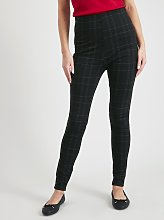 Window Pane Check Leggings - 24