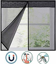 Window Screen Mesh Black, Fly Mosquito Magnetic