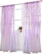 Window Sheer Curtain Panel WINOMO Rod Pocket Voile