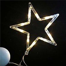 Window silhouette Christmas LEDs star tree bell