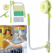 Window Squeegee Cleaner with Long Extension Pole,